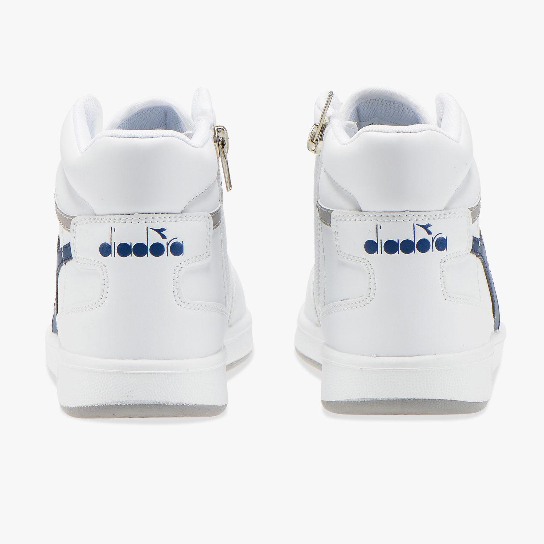 Diadora-Scarpe-Sportive-Sneakers-Playground-High-Basket-Mid-Lifestyle-Bianco miniatura 3