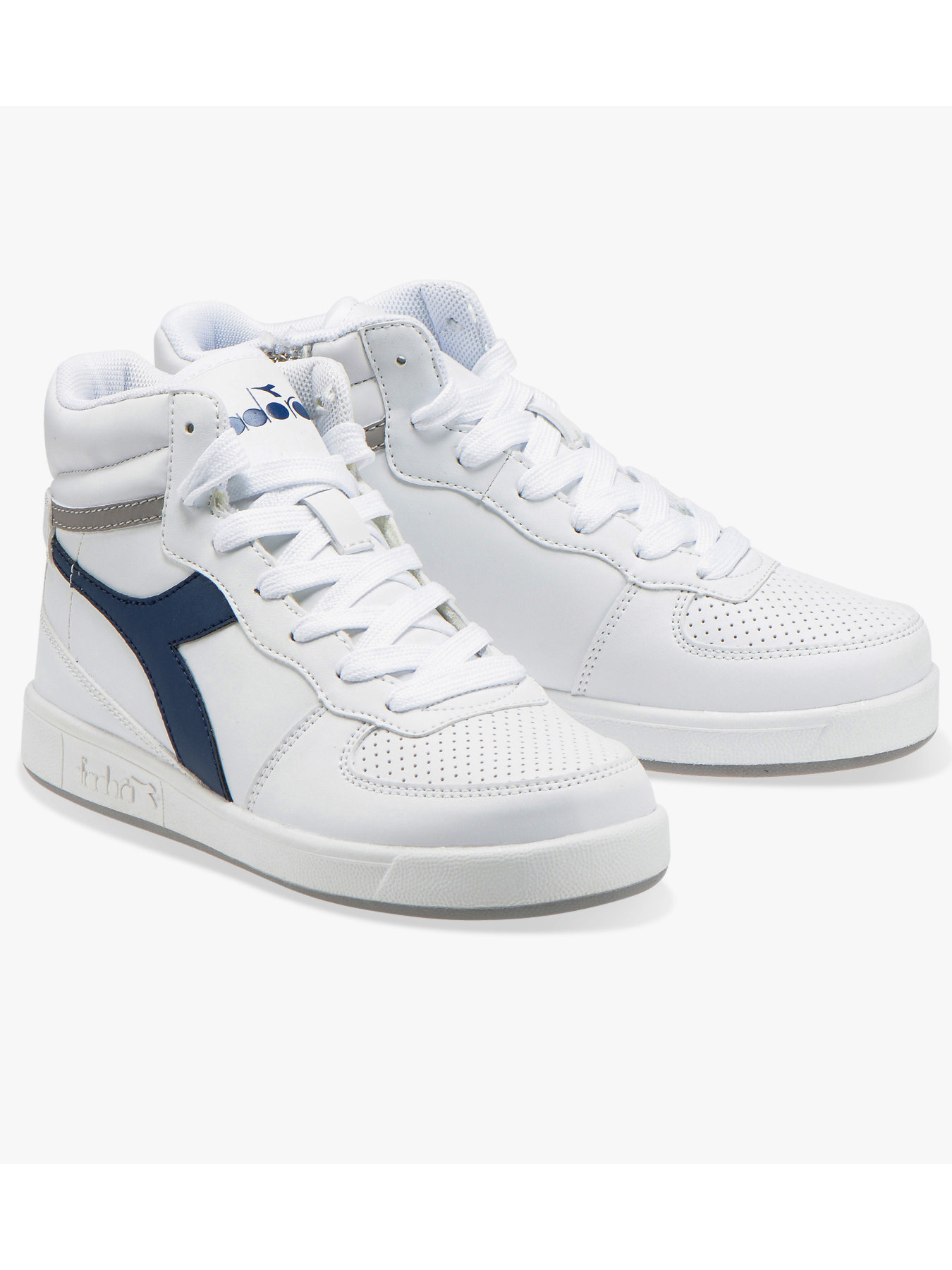 the best attitude 6d862 e4c0c Details about Diadora Sneakers Sport Shoes Playground High Basket Mid  Lifestyle White