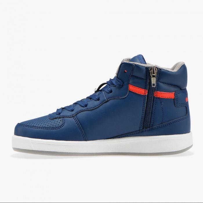Diadora Scarpe Sneakers Lifestyle Playground High Basket Mid Blu | eBay