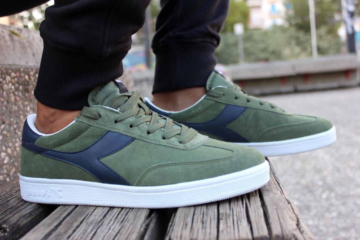 Ragazzo Scarpe Donna Field Verde Sportive Sneakers gs Diadora 8wHqS