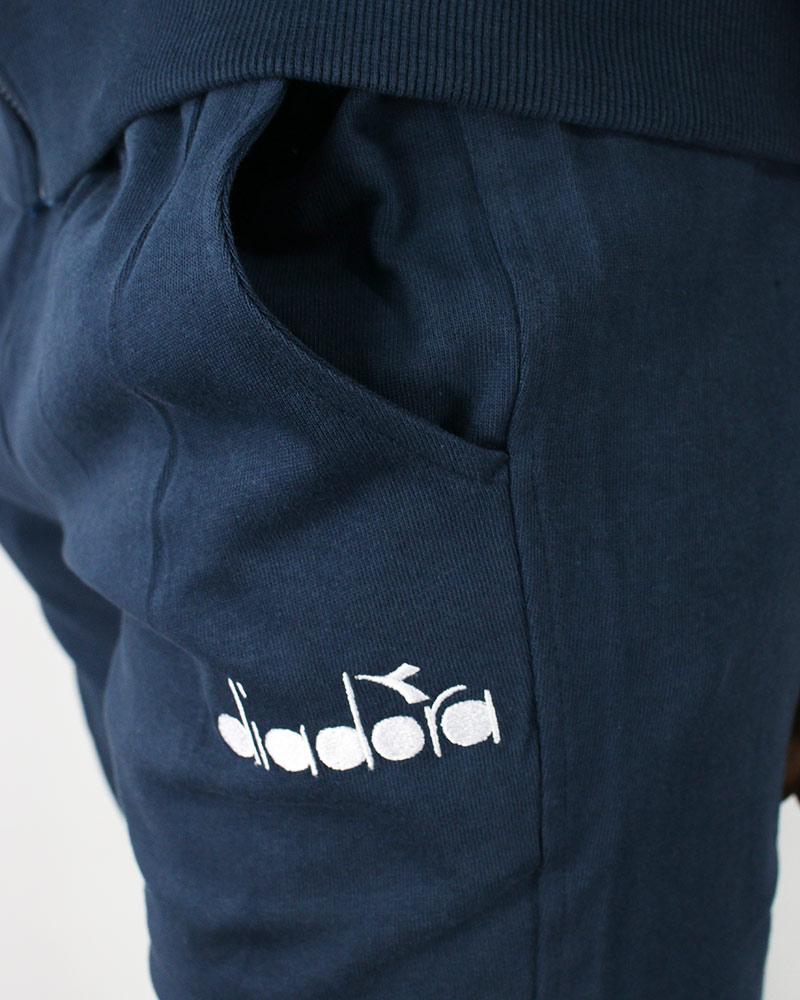 Diadora-Tuta-Sportiva-Tempo-libero-HD-Full-zip-core-Uomo-Blu-Cotone-leggero miniatura 9