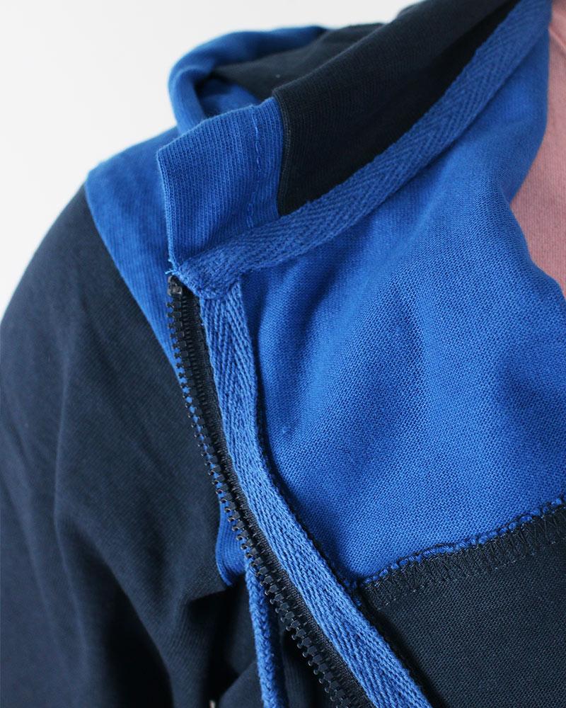 Diadora-Tuta-Sportiva-Tempo-libero-HD-Full-zip-core-Uomo-Blu-Cotone-leggero miniatura 6