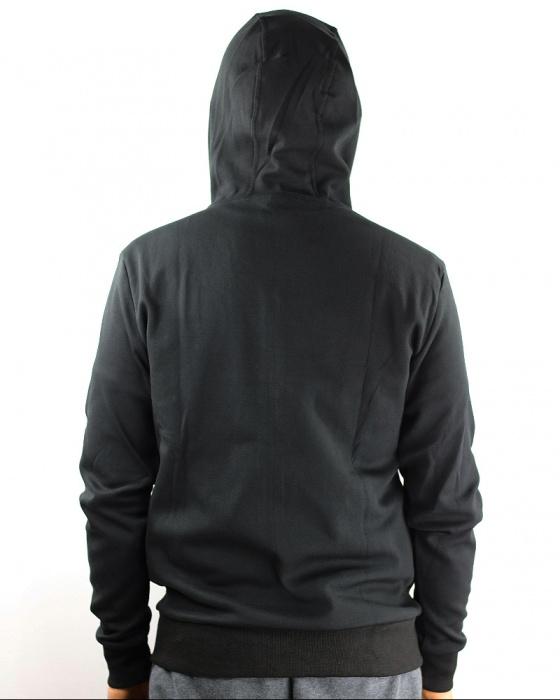 Joma HYBRID Felpa Giacca Sportiva cappuccio Nero Uomo tasche con zip Cotone