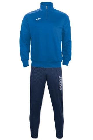 CAMPUS II Top Joma Felpa Allenamento Training Sweatshirt Uomo Mezza Zip half Blu