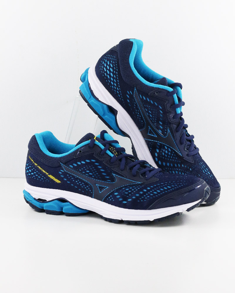 Mizuno-Scarpe-Corsa-Running-Shoes-Sneakers-Trainers-Wave-Rider-22-Blu miniatura 9