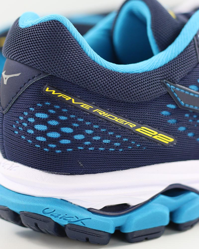 Mizuno-Scarpe-Corsa-Running-Shoes-Sneakers-Trainers-Wave-Rider-22-Blu miniatura 8