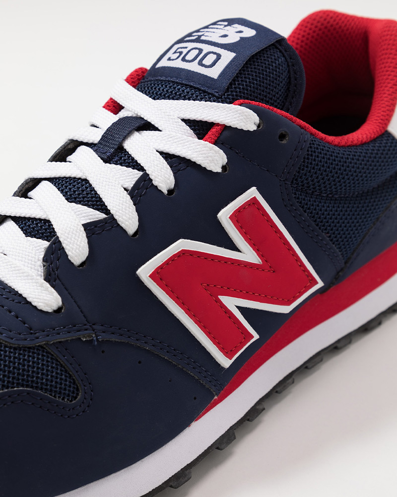 New-Balance-500-Chaussures-sportif-Sport-Shoes-Sneakers-2020-Bleu-rouge miniature 7