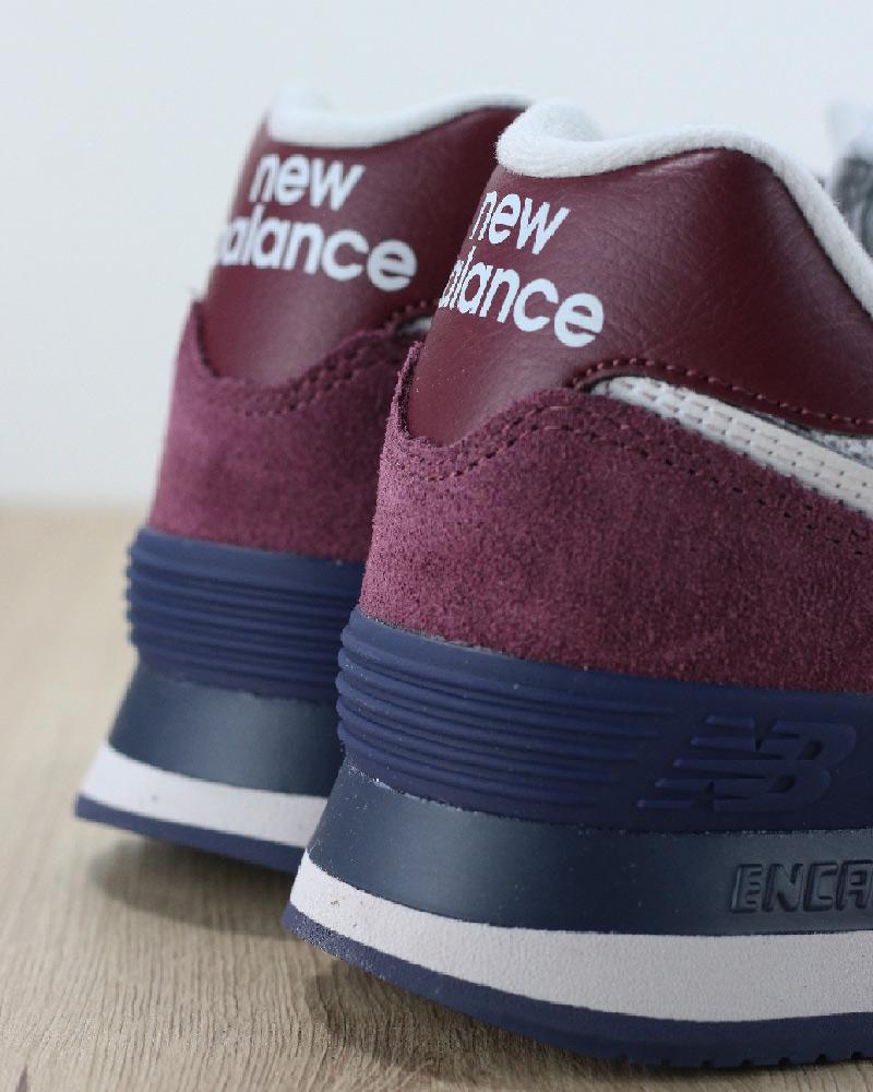 New Balance 574 Scarpe Sportive Sneakers Lifestyle Classics ESW Amaranto 532ec6e8023