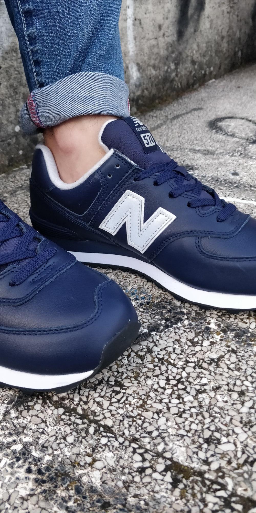 Blu Ml Sneakers 574 Lifestyle Sportive Scarpe Pelle New Uomo Balance Lea Vera aX5wOx88q