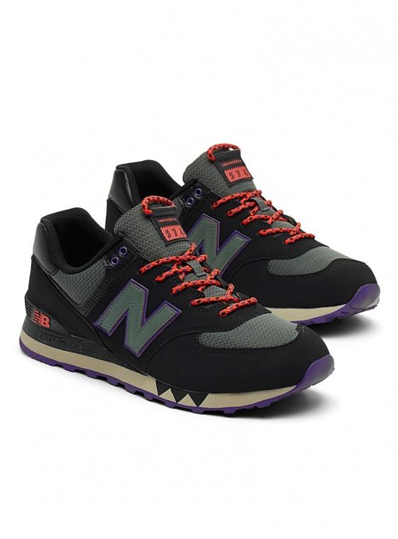 new balance 574 uomo nere