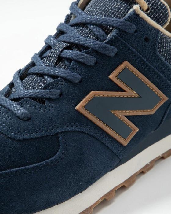 Detalles de New Balance 574 Zapatillas Deportivas Zapatillas Hombre Azul  Piel Ante