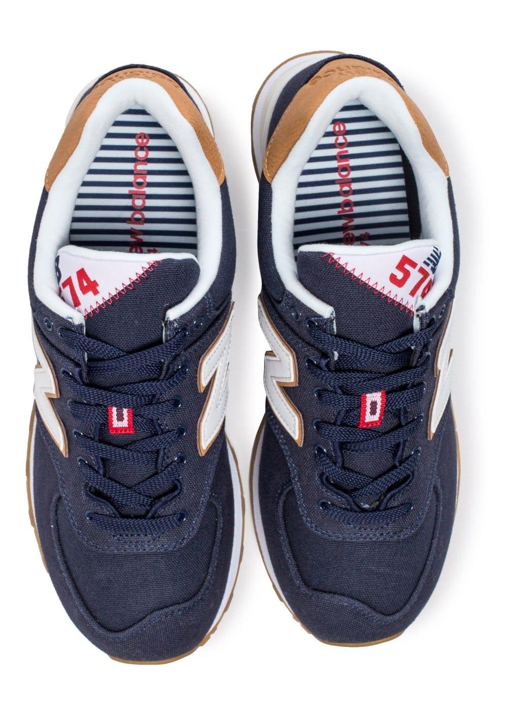 great fit c31ac 95e22 6 sur 9 New Balance 574 Canvas Scarpe Sneakers Ginnastica Tennis Lifestyle  Blu