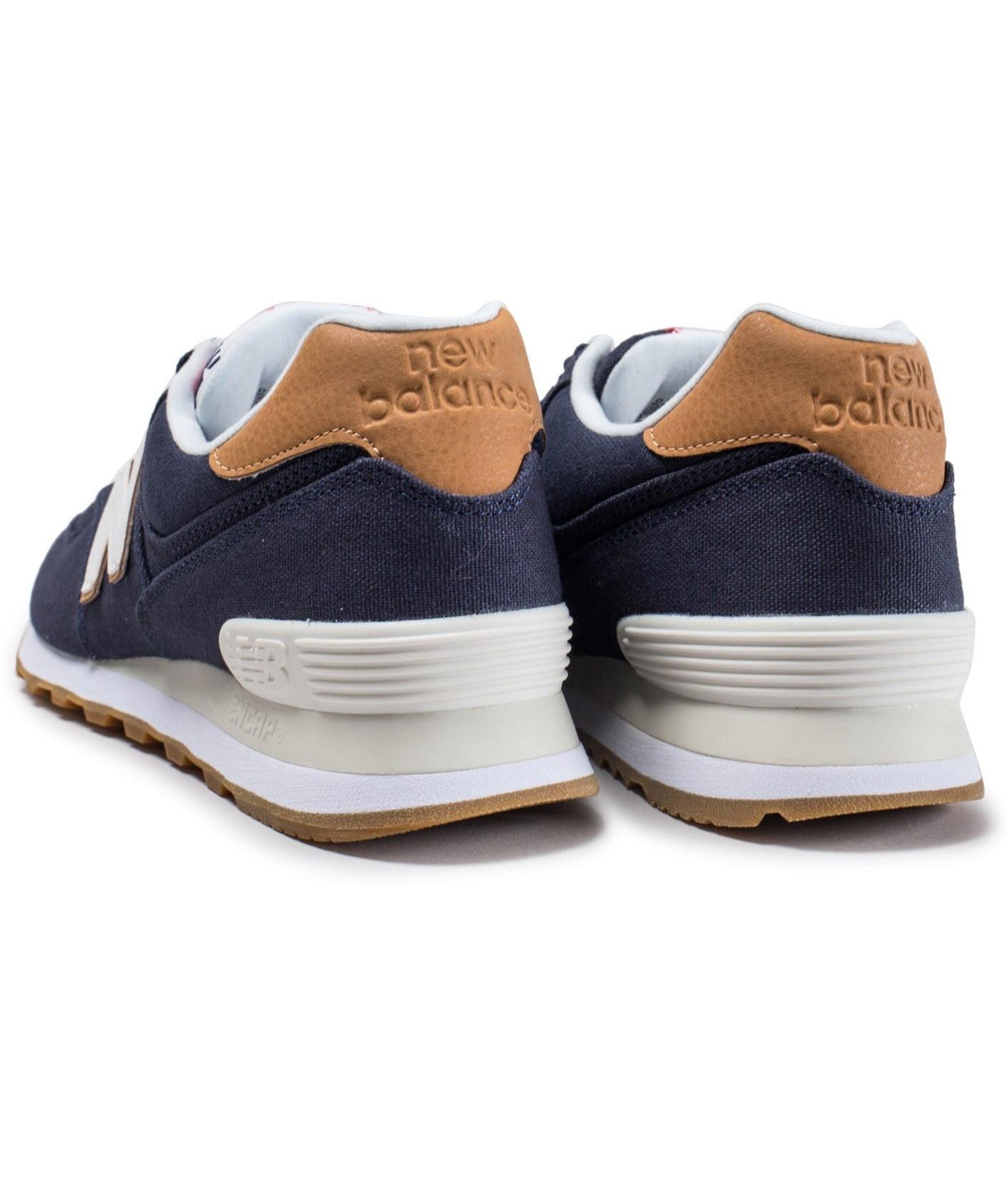 best loved a9cdd 7ed4a 2 sur 9 New Balance 574 Canvas Scarpe Sneakers Ginnastica Tennis Lifestyle  Blu
