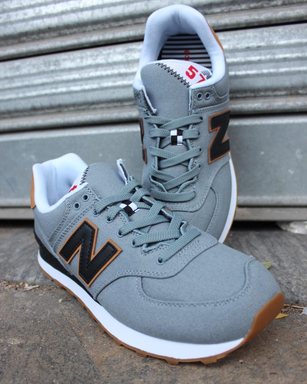 Buena Venta Con Descuento Ebay La Venta En Línea New Balance 574 Canvas Scarpe Sneakers Trainers Sportive Ginnastica Grigio Comprar El Precio Barato Comprar Tienda Barata Para byHuIG2sYh