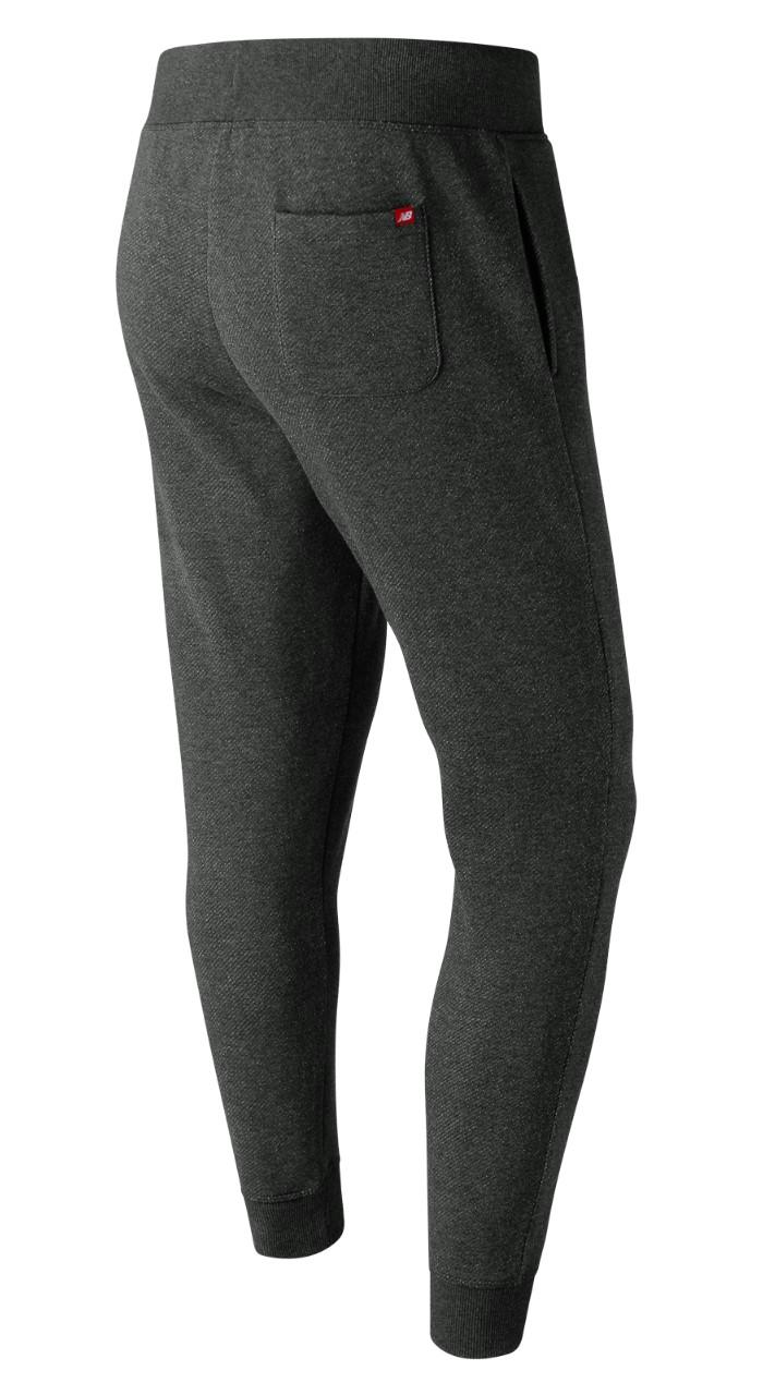 New-Balance-Pantaloni-tuta-Pants-Grigio-scuro-Cotone-2018-19-con-tasche miniatura 6