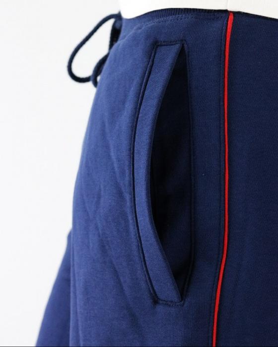 New Balance Pantaloncini Shorts Essentials PinSrtripe Blu con tasche cotone