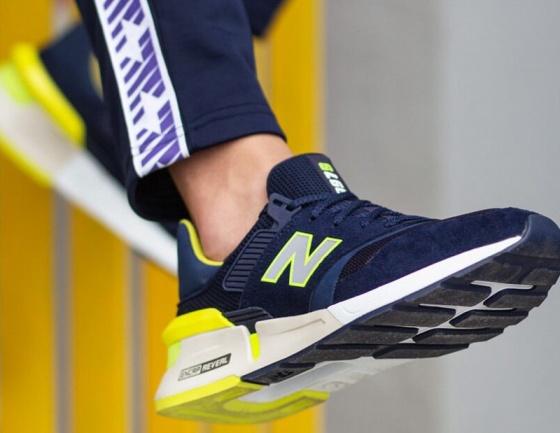 new balance uomo blu gialle