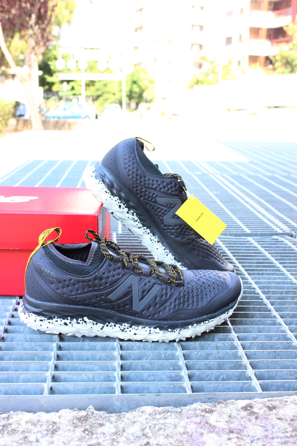 buy online ccfd5 d53d1 New Balance Fresh Foam Hierrov3 Running Shoes Trainers trail Grey 8 8 of 9  ...