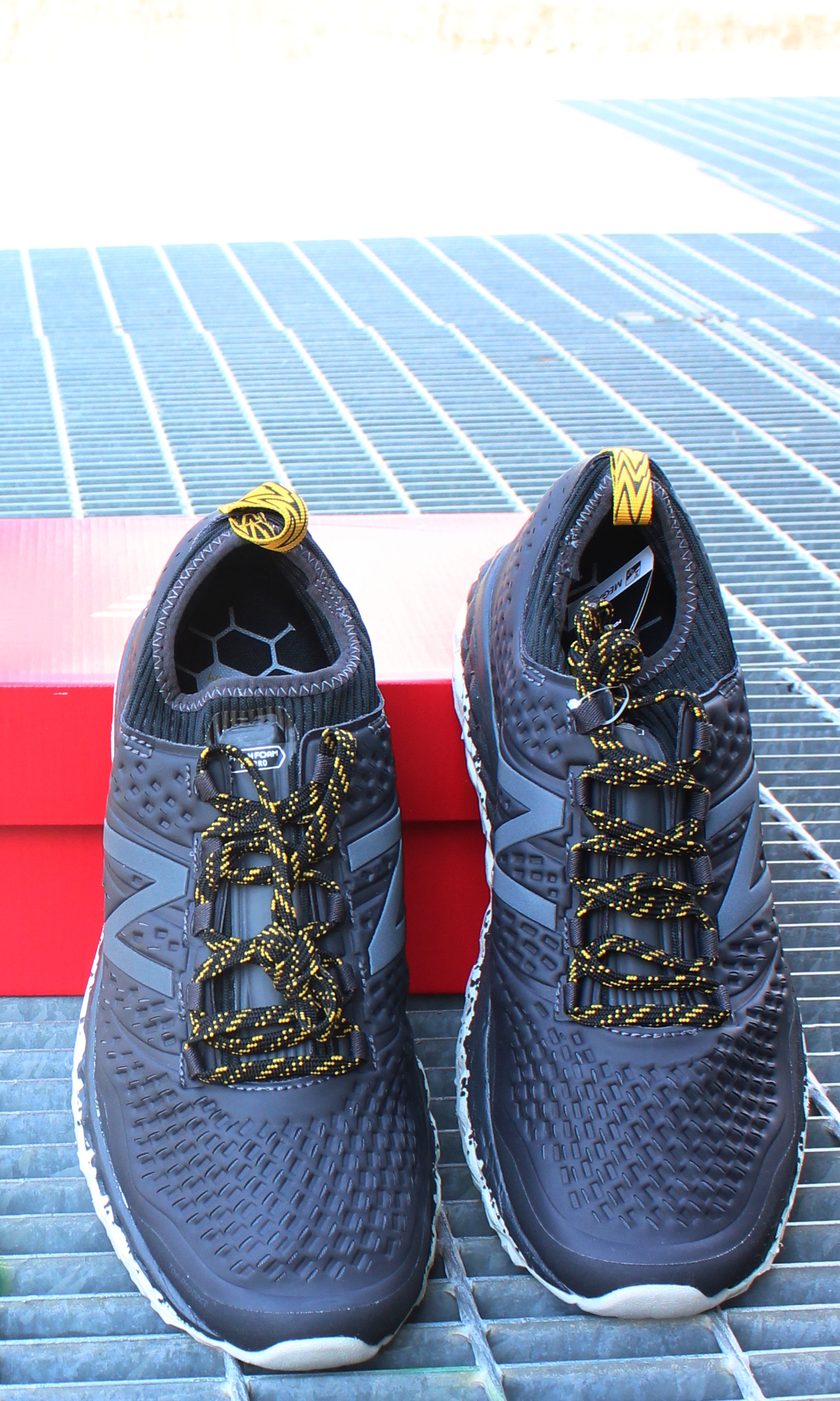 best service 59aeb a0d93 New Balance Fresh Foam Hierrov3 Running Shoes Trainers trail Grey 3 3 of 9  ...