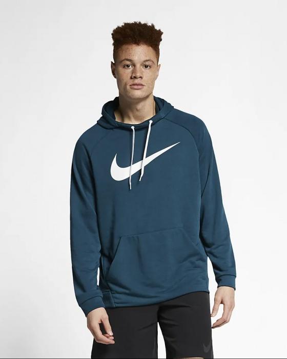 Détails sur Nike Hoodie Homme Dry Swoosh Vert Sportswear 2019 avec des poches Normale