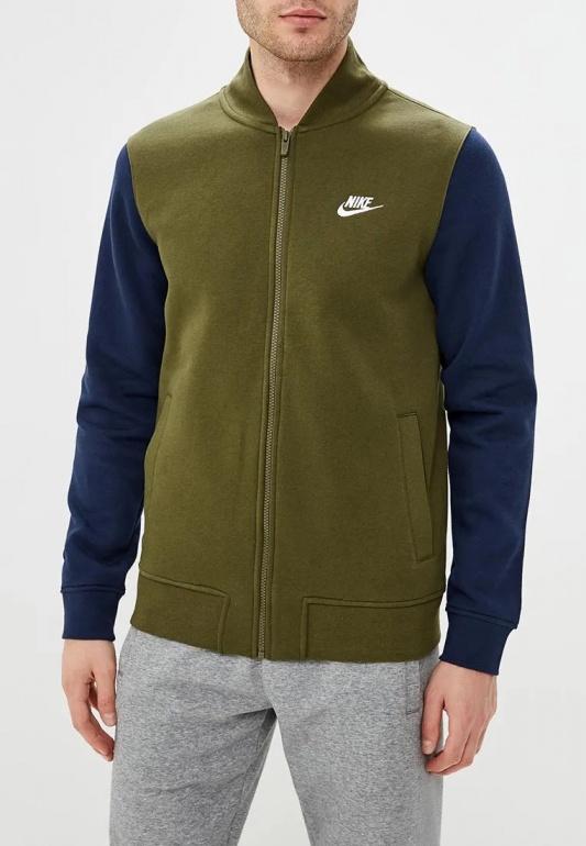 brand new 3fbfb 71fef ... Giacca sportiva felpa cappuccio Nike Sportswear CLUB BOMBER Cotone  Felpato Verde - Nike Bomber 2019 TRND