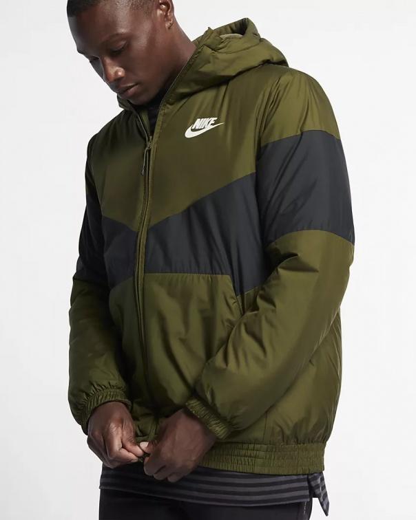 Nike Bomber Giubbino Down Bubble Padded jacket Sportswear Synthetic Fill Verde | eBay