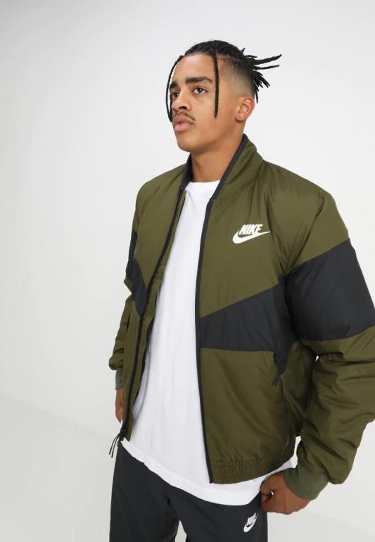 Dettagli su Nike Bomber Piumino Giubbino Sportswear Synthetic Fill Verde 2018 19