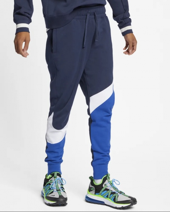 pantaloni blu uomo cotone nike