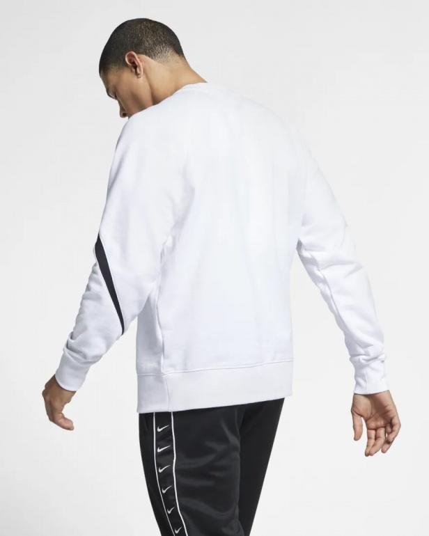 Swoosh Blanc Crew Homme Sweatshirt Nike Coton Sportswear Sport 2019 m0Nnw8v