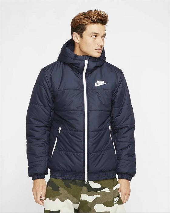 Dettagli su Nike Bomber Piumino Down Bubble Padded jacket Blu SYN FILL Uomo