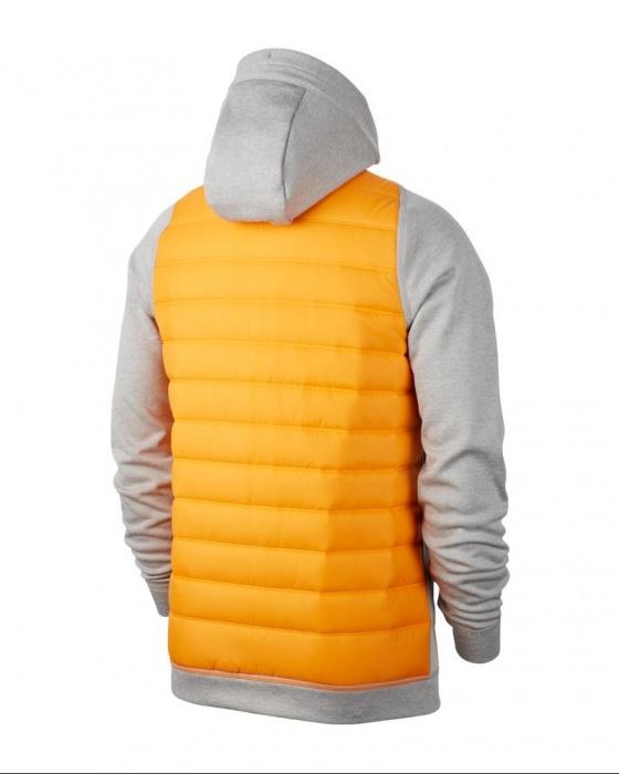 Détails sur Nike Sport Jacket Veste Therma Hoodie Jaune 100% polyester rembourré
