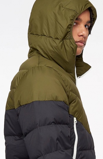 259997b672d7d ... Piumino Giubbino Nike Windrunner Down Fill PADDED uomo Verde Nero - Down  jacket Nike Windrunner Down ...