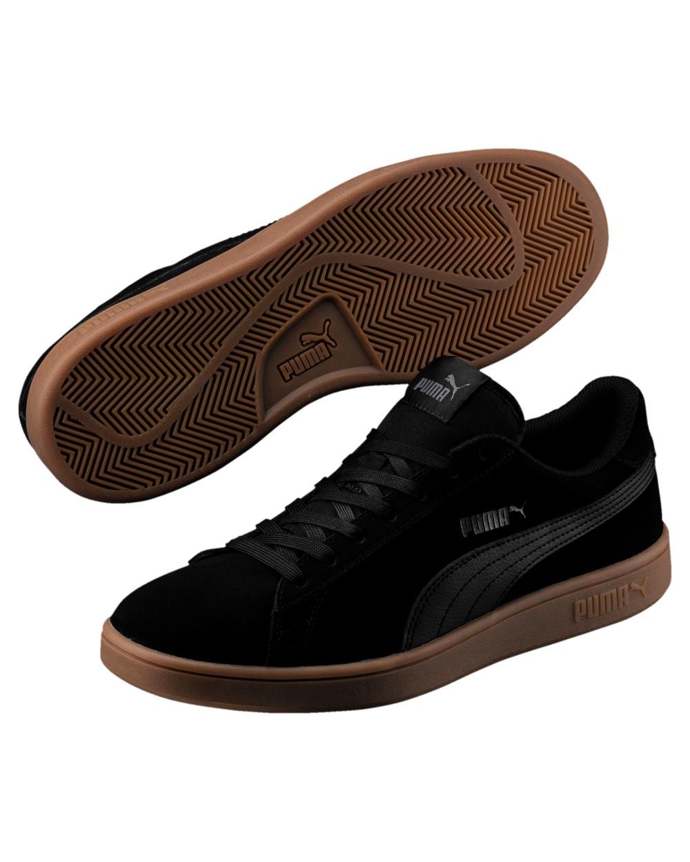 Puma Schuhe Schuhe Puma Sneakers Sportive Sportswear Smash v2 nobuck Nero 9c0175