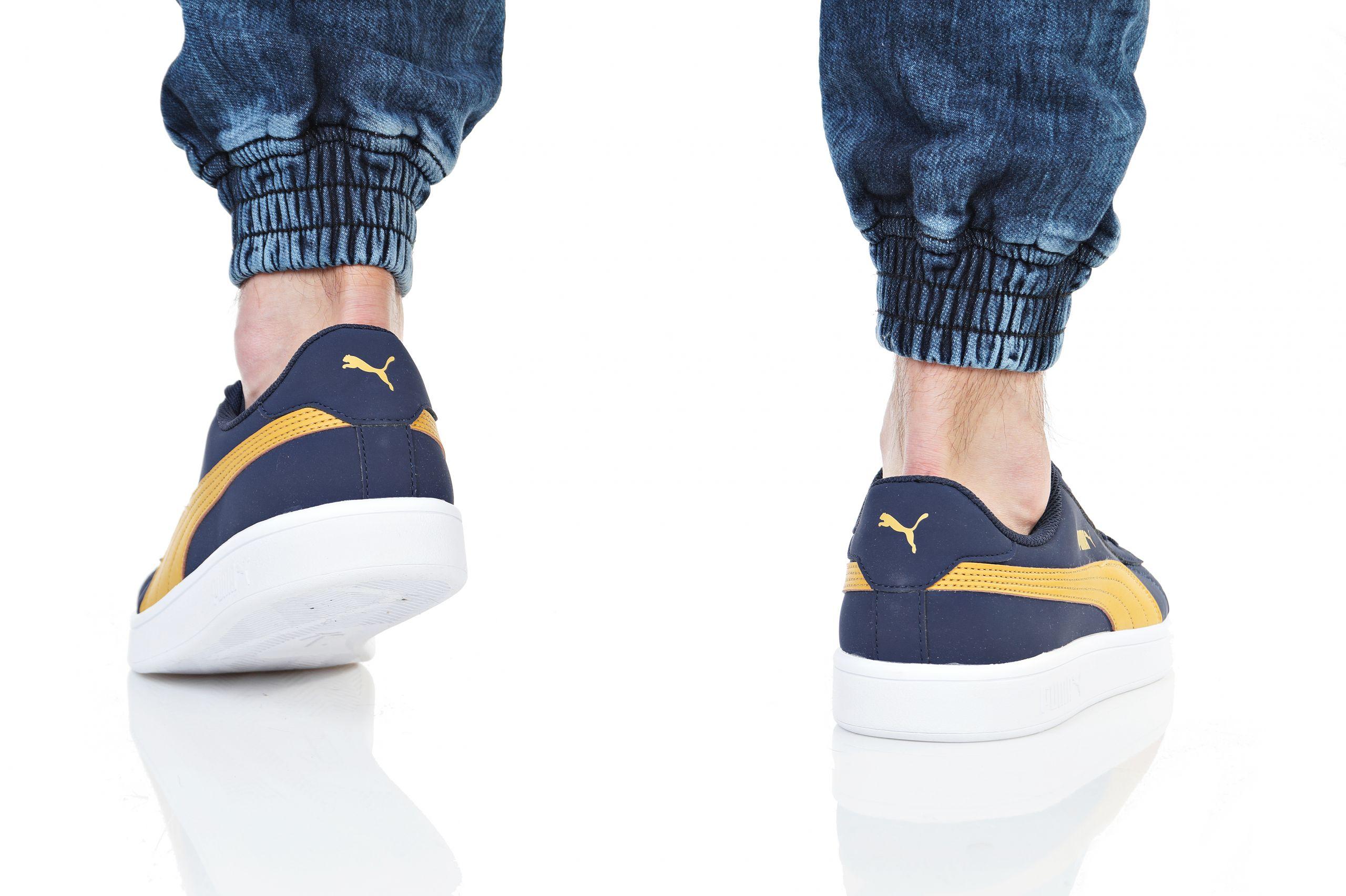 Puma Scarpe Sneakers Sportive Smash v2 Buck Peacoat Blu Nubuck