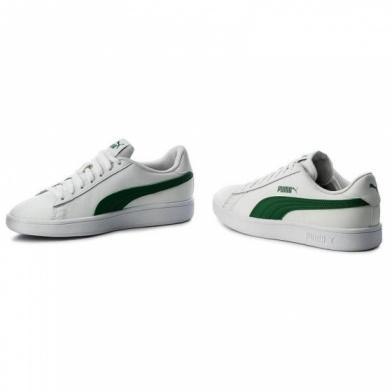 Dettagli su Puma Scarpe Sportive Sneakers Sportswear SMASH V2 L Uomo Bianco Verde Lifestyl