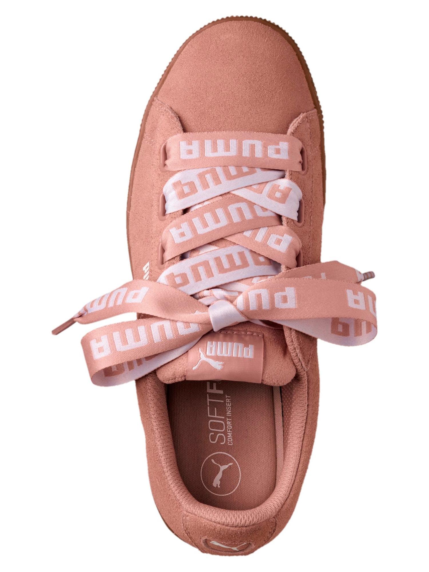 Puma Schuhe Sportive Sneakers Vikky Pltfm Rosa Ribbon Bold Rihanna Damenschuhe Rosa Pltfm 60a8ef