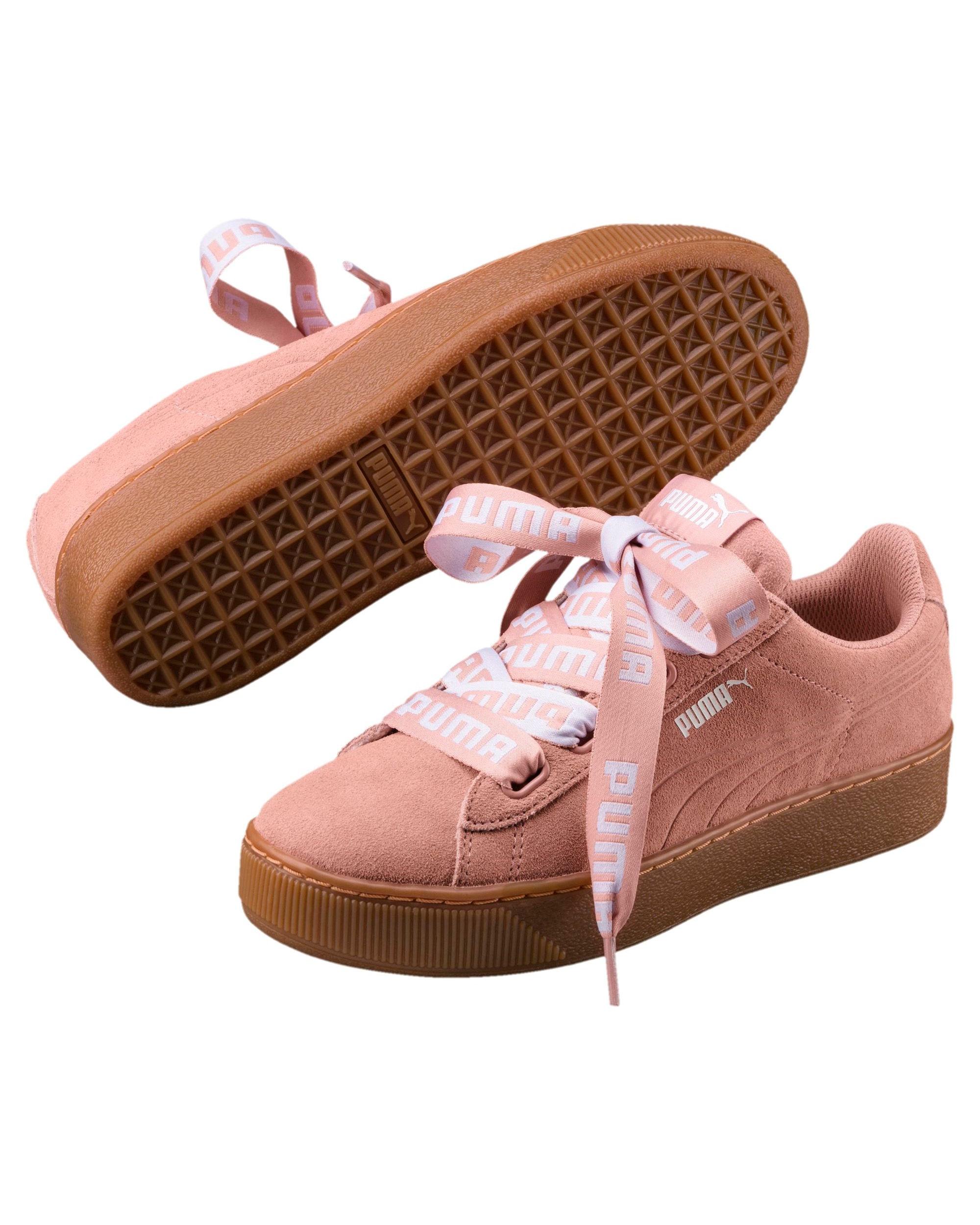 Puma Sport Schuhe Shoe Sneakers Vikky Pltfm Ribbon Bold Rihanna Damen Rosa