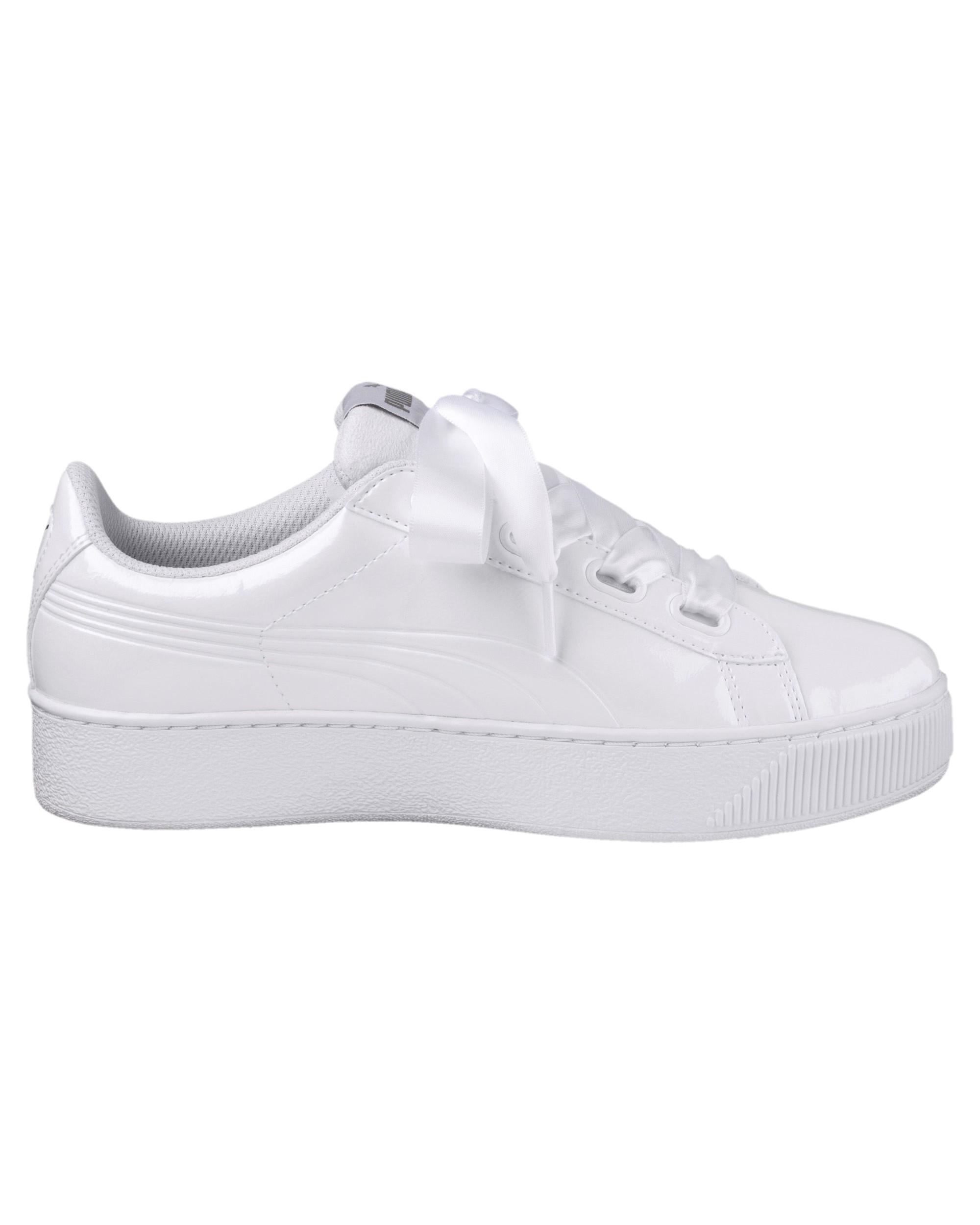 Puma Scarpe Sneakers Sportive Vikky Platform Ribbon P Rihanna Donna Bianco