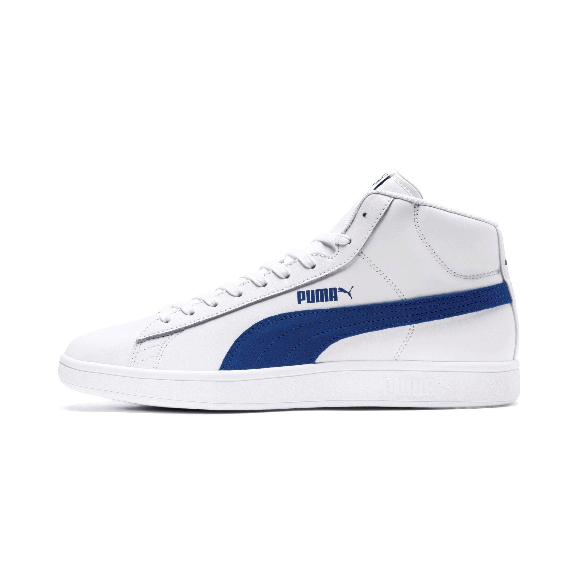 best sneakers ccb41 87593 Puma Scarpe Sneakers Sportive Sportswear Smash V2 L Mid Bianco Caviglia  alta 7 7 sur 8 ...