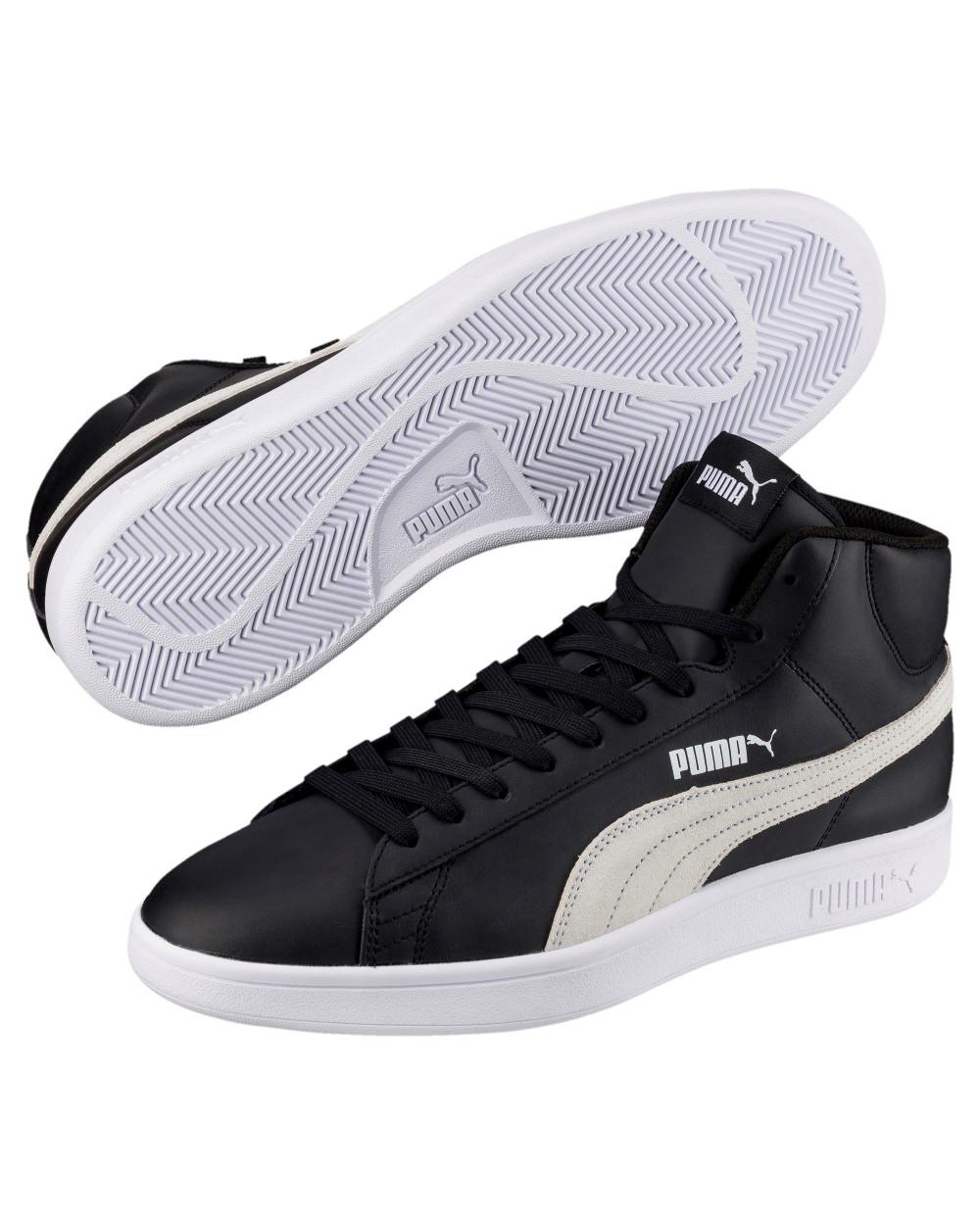 Puma-Scarpe-Sneakers-Sportive-Sportswear-SMASH-V2-L-Mid-2018-19-Nero-Uomo miniatura 5