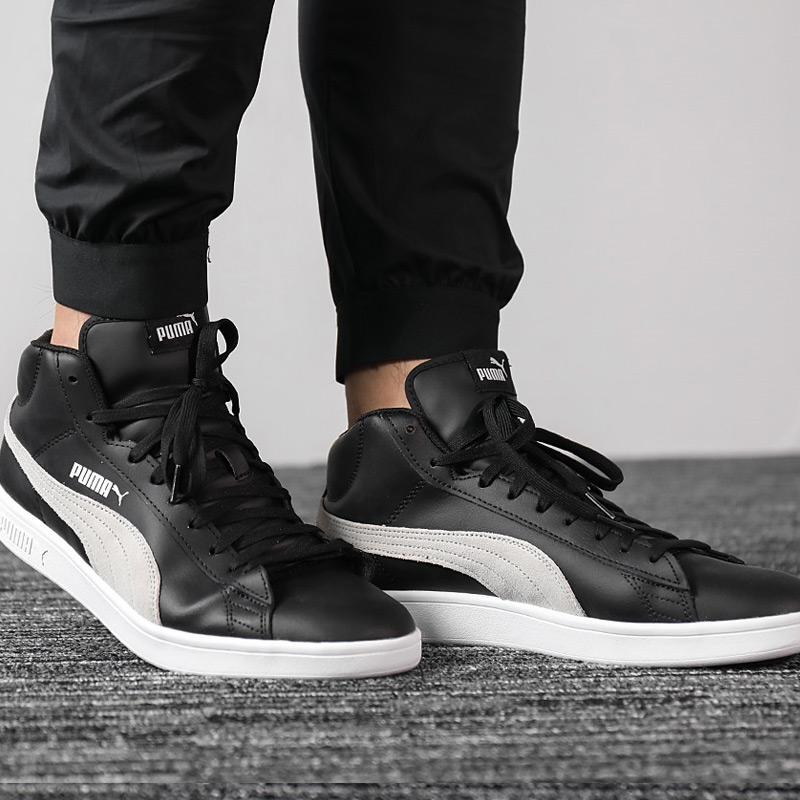 Puma-Scarpe-Sneakers-Sportive-Sportswear-SMASH-V2-L-Mid-2018-19-Nero-Uomo miniatura 3