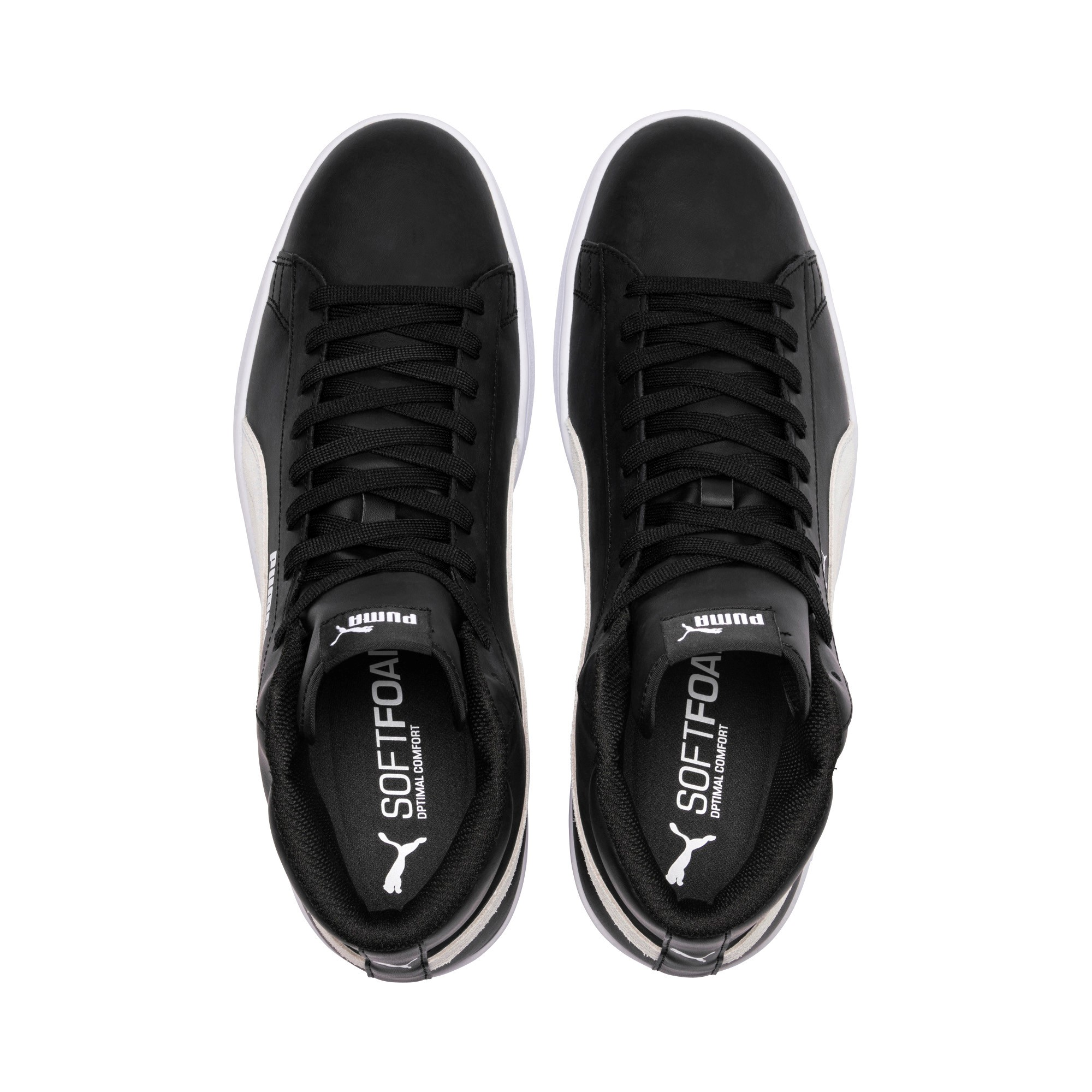 Puma-Scarpe-Sneakers-Sportive-Sportswear-SMASH-V2-L-Mid-2018-19-Nero-Uomo miniatura 7