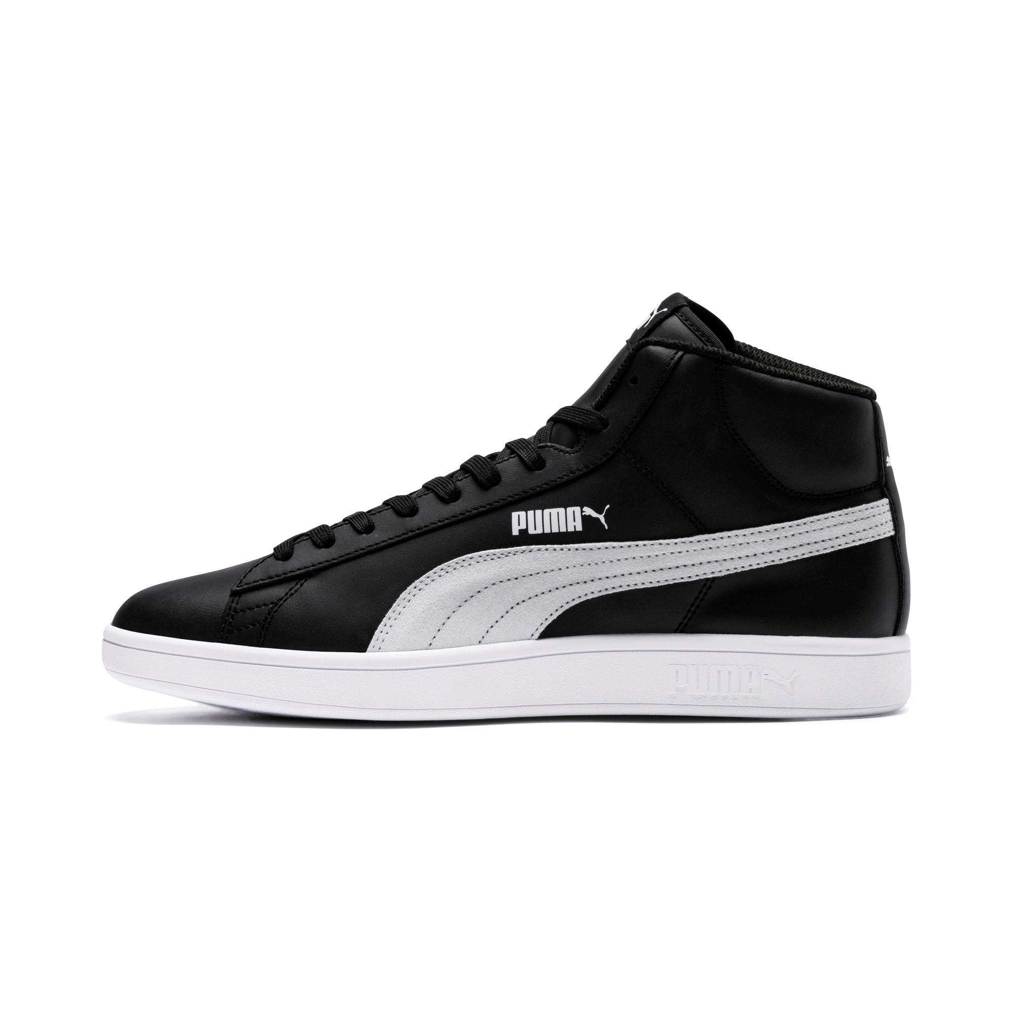 Puma-Scarpe-Sneakers-Sportive-Sportswear-SMASH-V2-L-Mid-2018-19-Nero-Uomo miniatura 6