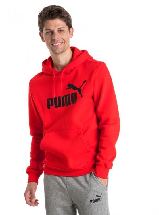 Puma Felpa Cappuccio Hoodie Essentials Fleece cotone Rosso 05