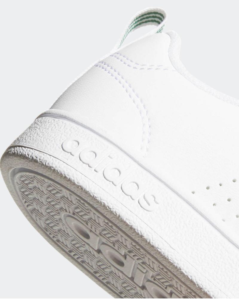 sports shoes df129 aab50 Adidas Chaussures sportif advantage Clean Enfant femme Blanc vert 4 4 sur 9  ...