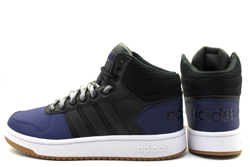 check out 69136 45b72 Adidas Scarpe Sneakers Sportive Blu caviglia alta HOOPS 2.0 MID 2018