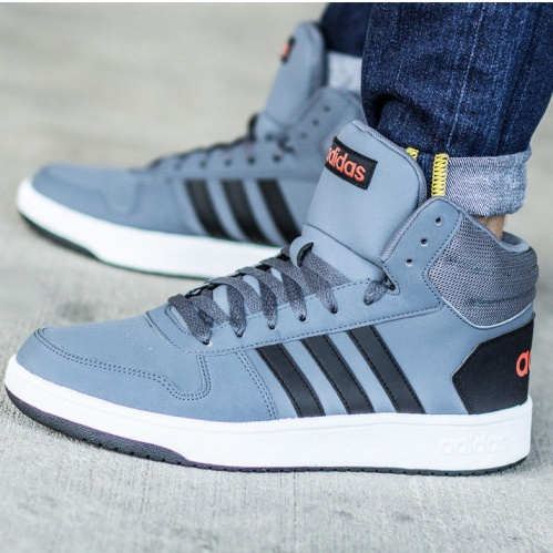 Adidas HighEbay 2 0 Mid Grey Shoes Hoops Ankle Sneakers Sports hCtQrsd