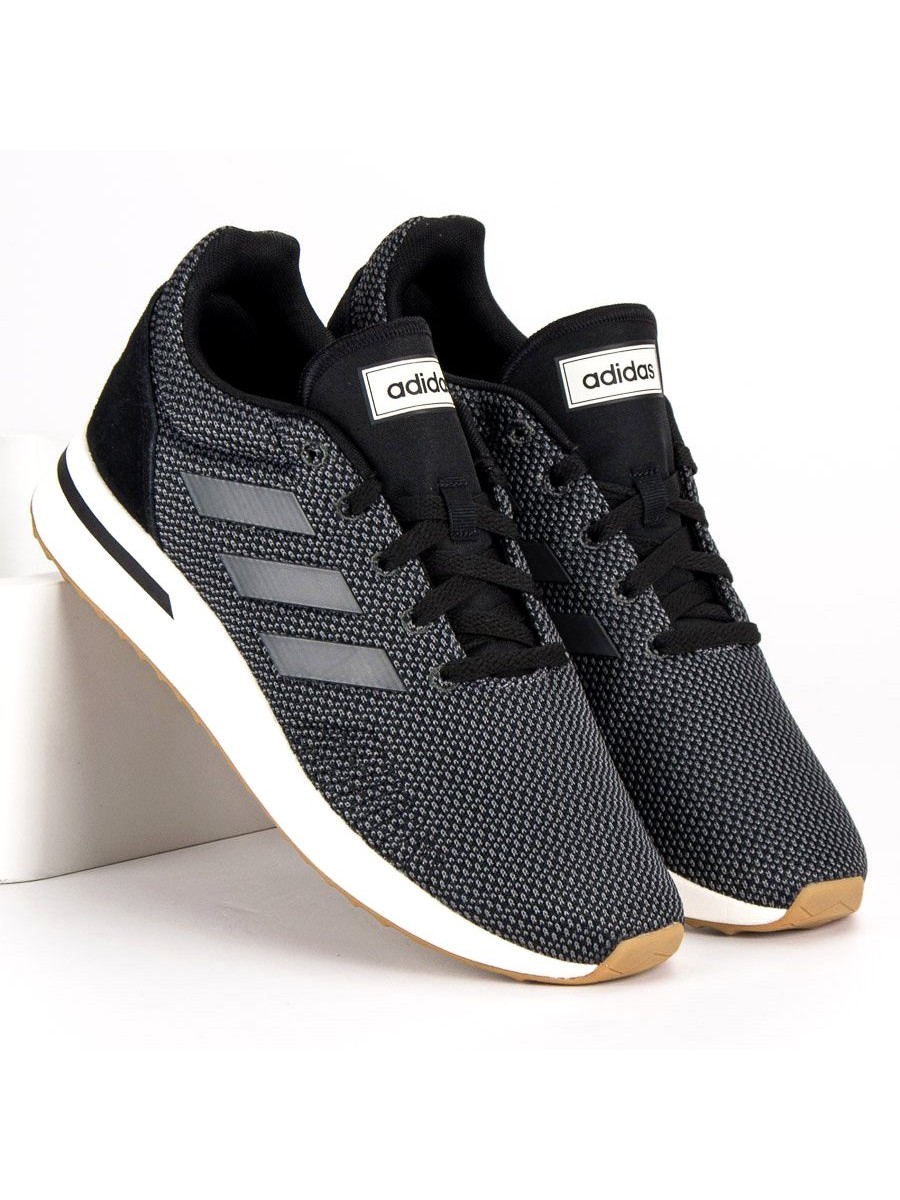 639db8b99d64 Adidas Scarpe Sneakers Sportive Ginnastica Nero RUN70S 2018 mesh