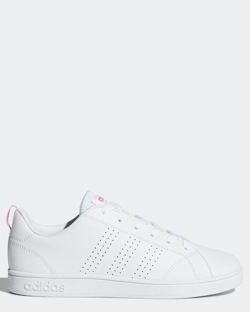 online store 754b8 b4f89 Adidas Scarpe Sportive Sneakers Advantage Ragazzo Donna Bianco Rosa 8 8 di  9 ...