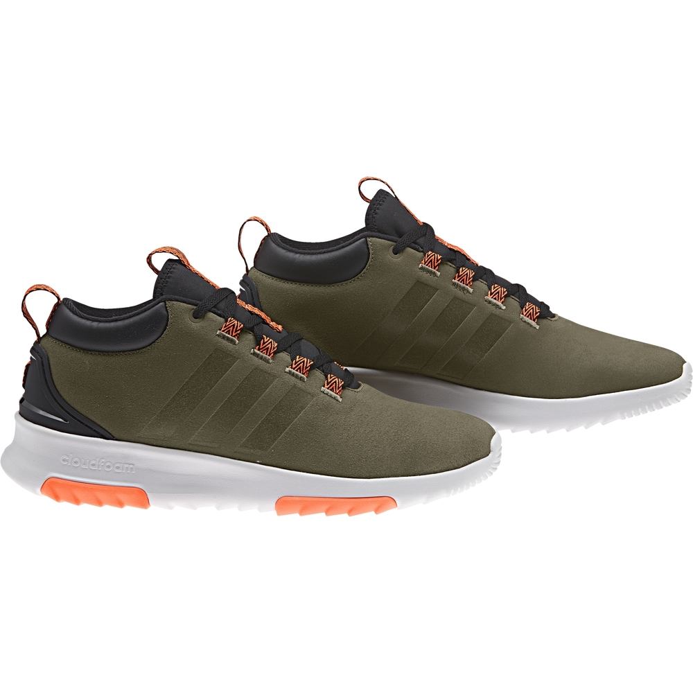 Adidas Scarpe Sneakers Sportive Ginnastica Tennis Blu CloudFoam Racer Mid Wtr